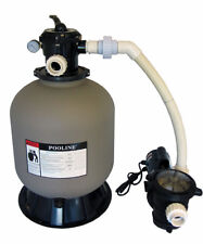 Pooline Pro Above Ground Pool 175 lbs Sand Filter Systems with 0.75 HP Pump