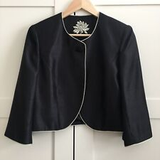 Jacques Vert Bolero Jacket Black Party Evenining Occasion Mother Of Bride 10