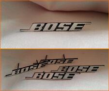 4 Sticker BOSE aluminium badge logo haut-parleur à cliper enceinte BMW Mini Merc