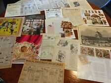 19 individual ast  vintage ephemera pages advertising sears catalogue,foreign 2