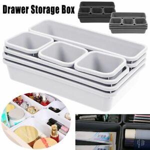 8Pcs Desk Drawer Organizer Home Kitchen Tidy Divider Makeup Storage Organiser AU