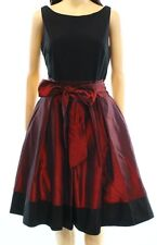 NWT SL FASHIONS Red Black Bow Sheath Dress Back V-Cut Party Cocktail 2 $109