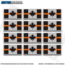 "Canada Thin Orange Line Flag 2"" Sticker Decal 12 Pack Search Rescue SAR V3 ZU1"