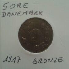 Monnaie du Danemark 5 Ore 1917 Bronze