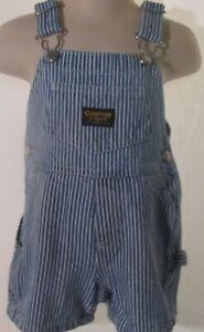 Osh Kosh Striped Denim Overalls Size 3-6 Months