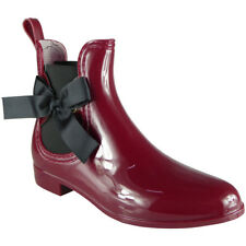 Womens Ankle Chelsea Bow Boots Winter Wellington Wellies Rain Snow Ladies Sizes