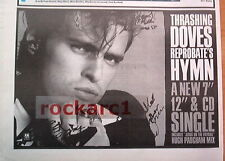 THRASHING DOVES Reprobate's Hymn 1989 UK Press ADVERT 12x8 inches