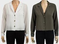 Womens PRIMARK V Neck Button Front Boxy Blouse - Size 6 8 10 12 14 16 18 20