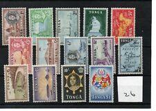 Tonga - Elizabeth  1953 (26) - Definitive set 14 values - mint - SG Cat £60