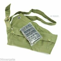 10 x Enfield SMLE 303 Rifle 5rd Charger/Stripper Clips & Jungle Green Bandolier