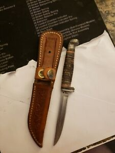 """Vintage Case hunting knife 5"""" fixed blade"""