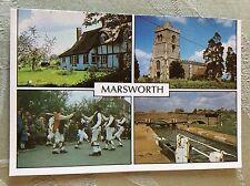 a2o postcard unused marsworth village views
