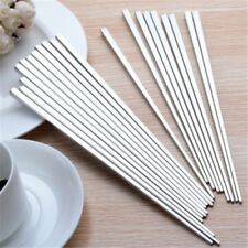1 Pair Top 304 Stainless Steel Tableware Chinese Alloy Square Chopsticks