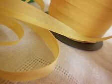 biais vintage ruban bordure jaune 5 mètres sur 1,5  cm