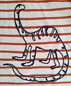 NEXT Baby Boys Dinosaur Top 12 18 24 Months NEW Long Sleeved Stitch Dino T Shirt
