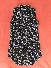 Equipment Lucida 100% Silk Signature Shirt Dress Floral XS $268