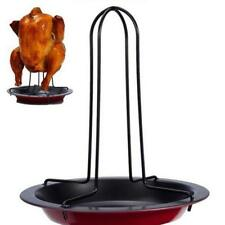 Beer Can Chicken Duck Roaster Drip Pan Oven Rack Cooker Holder BBQ Outdoor Grill