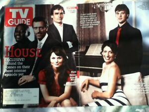 TV Guide March 2007 HOUSE CAST Hugh Laurie jesse spencer fold out cover