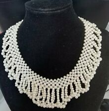 Vintage faux pearl looped beaded collar