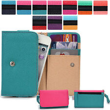 Two-Tone Protective Wallet Case Clutch Cover for Smart-Phones ESAMMT-3