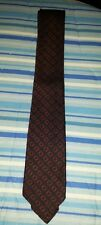 Vintage tie black red patterned st michael polyester made in britain 60s?