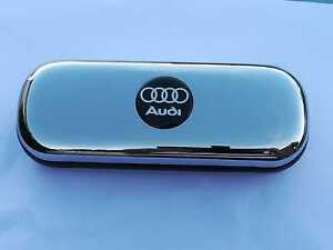 Audi A4 A3 A6 Q2 Q8 TT car brand new chrome glasses case great gift Birthday