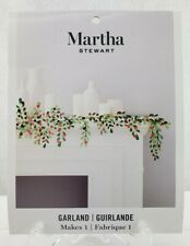 Martha Stewart Garland Greenery Red Foil Berries Craft Kit 30068365