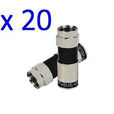 20 pcs PV6UE-05 Ridgeloc Compression Connector RG6 Coax Cable Fitting CATV CCTV