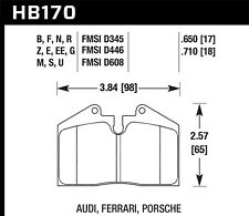 Disc Brake Pad Set-Carrera 4 Rear,Front Hawk Perf HB170N.650