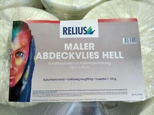 Relius Maler Abdeckvlies hell Kunstfaser vlies mit Folienkaschierung 50 x 1m
