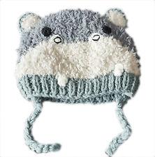 ZARA Boy Baby Toddler Animal DOG GREY GREEN Winter Trapper Hat 6m-4y