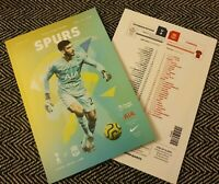Spurs v Liverpool F.C. Matchday Programme with teamsheet 11/1/2020! LAST FEW!!!