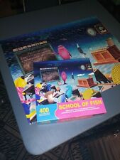 SPRINGBOK 400 Family Jigsaw Puzzle School Of Fish Large Piece Complete Set 26x20