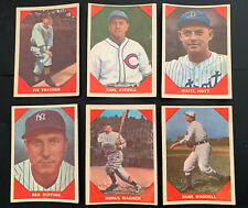 1960 FLEER BASEBALL GREATS PARTIAL SET LOT-36/79 W/WAGNER, LAJOIE ETC ~ VG to EX