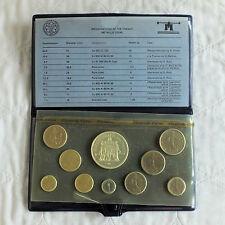 FRANCE 1979 FLEURS DE COINS 10 COIN SPECIMEN SET - sealed/complete