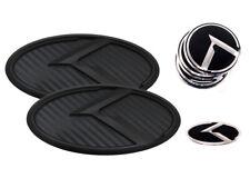 K Logo Black Carbon & Black Edition Emblem 7pc SET (Fits: KIA 2020+ Telluride)