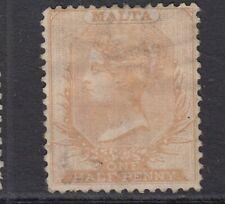 Malta 1872 1/2d Orange-Buff SG8 Good Mtd Mint