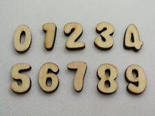 "100 Assorted FlatBack Wooden Number ""0-9"" Flatback Wood-Cut Scrapbooking"