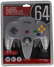 Grey Nintendo N64 USB Wired Controller for PC/MAC Retro-Link