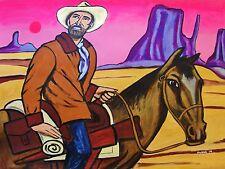 HENRY FONDA PAINTING wyatt earp my darling clementine john ford western cowboy