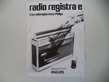 advertising Pubblicità 1972 RADIO REGISTRATORE PHILIPS RR 512