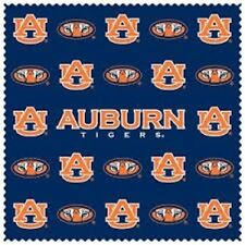AUBURN TIGERS MICROFIBER CLEANING CLOTH FOR TABLET LCD SCREEN