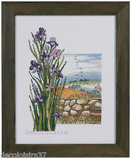 Kit/Point de Croix Compté/Cross Stitch Kit/Permin/Iris/Bord de Mer/Version Lin
