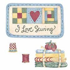 I love to Sew Debbie Mumm Seamstress Stickers Decals 25 Wallies Thimbles Thread