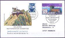 BRD 2000: Wetterstation Zugspitze FDC der Nr 2127 mit Bonner Sonderstempel! 1610