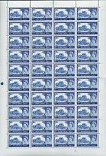 1963 10/- No Watermark castles Cyl 2A FULL SHEET UNMOUNTED MINT