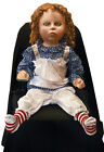 Halloween Animated DEADLY CREEPY TODDLER SIZED DOLL FRIGHTRONICS Prop Haunted
