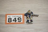 Warhammer 40k Space Marine Scout with Sniper Rifle - Metal LOT 849