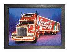 Coca Cola - Christmas - Truck 1 Poster Santa Claus Family Time Snow Winter Logo
