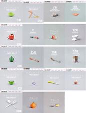 19 PCS Original Dollhouse Miniature Cup Fork Kitchen Furniture toys Re ment Size
